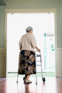 Senior woman in a nursing home
