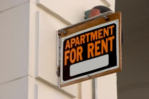 apartment for rent sign put up after eviction